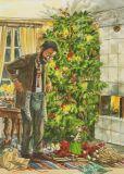 TAURUS-KUNSTKARTEN Weihnachtsbescherung - Petersson & Findus Postkarte