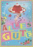 ALLTAGSPARADIES Alles Gute / Wackelpudding Postkarte