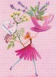 GOLLONG Gute Besserung / Frau mit Kräutern - Mila Marquis Postkarte