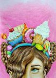 DANACARDS Candy Girl - Lilli Kuhn Postkarte