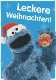 MT Leckere Weihnachten / Krümelmonster - Sesamstraße Postkarte