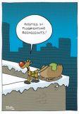MT Ausstieg in Flugrichtung reeheeechts - Ralph Ruthe Postkarte