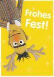 MT Frohes Fest / Bert - Sesamstraße Postkarte