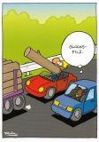 MT Glückspilz - Ralph Ruthe Postkarte