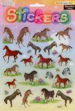 Springende Pferde - Stickerbogen