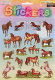 Pferde & Fohlen -  Stickerbogen