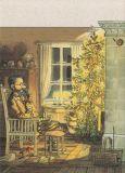 TAURUS-KUNSTKARTEN Vor dem Weihnachtsbaum - Petersson & Findus Postkarte