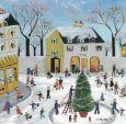 TAURUS-KUNSTKARTEN Best wishes / Weihnachten am Marktplatz - A. Strasberg Postkarte
