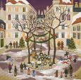 TAURUS-KUNSTKARTEN Best wishes / Weihnachtssingen - Y. Salmon-Duval Postkarte