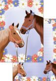 PKS Pferde mit Blüten A5 Block