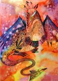 DANACARDS Drache - Anna Fernandez Postkarte