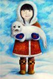 DANACARDS Eskimomädchen - Anna Fernandez Postkarte