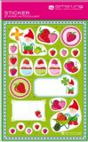 AMAZING IDEAS Strawberries & Garden Gnom Sticker