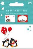 AMAZING IDEAS Happy Penguins label set