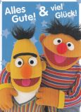 MT Alles Gute & Viel Glück - Ernie & Bert - Sesamstraße Postkarte
