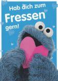 MT Hab dich zum Fressen gern - Krümelmonster - Sesamstraße Postkarte