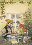 TAURUS-KUNSTKARTEN Weihnachtsbäckerei - Petersson & Findus Postkarte