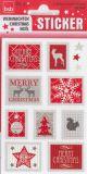 BSB Merry Christmas Briefmarken grau/rot Sticker