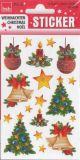 BSB Weihnachtkugeln, Glocken + Tannenbäume Sticker