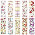 KARIN JITTENMEIER Aquarellblumen 10 Transparent Stickerbögen