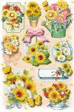 KARIN JITTENMEIER Sonnenblumen 3D Sticker