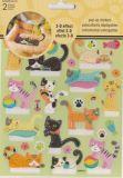 SANDYLION Katzen Pop Up / 3D Effekt Sticker
