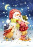 LOVELYCARDS Teddys bauen Schneemann - Evgenia Chistotina Postkarte