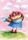 LOVELYCARDS Eule mit Herzbrille - Inga Paltser Postkarte