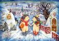 LOVELYCARDS Weihnachtsgeschichte / Igelpaar im Winter - Elizaveta Melkovevova Postkarte