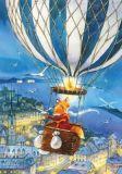 LOVELYCARDS Lizzy mit Heißluftballon / Fuchs - Evgenia Chistotina Postkarte