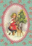 FROY & DIND Weihnachtsgeige Postkarte
