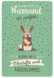 GOLDBEK Niemand ist perfekt / Hase Hello Friends Postkarte