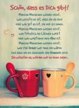 GOLDBEK Schön, dass es Dich gibt! / zwei Tassen Lichtblicke Postkarte
