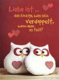 GOLDBEK Liebe ist das Einzige... / Eulen Lichtblicke Postkarte