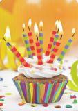 HARTUNG EDITION Bunter Cupcake mit Kerzen MEDLEY Postkarte