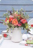 HARTUNG EDITION Blumen in weißer Kanne MEDLEY Postkarte