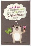 GOLDBEK Vitamine aus Spinat in Schokoladeneis Hello Friends Postkarte