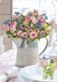 HARTUNG EDITION Blumen in Zinkkanne + Gedeck MEDLEY Postkarte