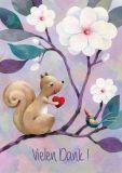 GRÄTZ Vielen Dank / Eichhörnchen Aurélie Blanz Postkarte