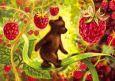 LOVELYCARDS Bär mit Himbeeren - Tanya Sytaya Postkarte