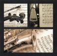 AQUAPURELLA Musikinstrument + Noten - Les Essentielles Postkarte