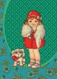 FROY & DIND Mädchen mit Hund Postkarte