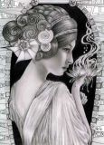 DANACARDS Lotusfrau - Lilli Kuhn Postkarte