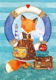 LOVELYCARDS Lizzy auf Kreuzfahrt / Fuchs - Evgenia Chistotina Postkarte
