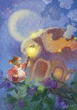 LOVELYCARDS Maus mit Taschenlampe - Catherine Babok Postkarte