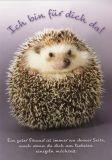 GWBI Ich bin für dich da! / Igel - CardArt Postkarte