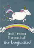 GWBI Fresst meinen Sternenstaub, Ihr Langweiler! - WortSchätzchen Postkarte