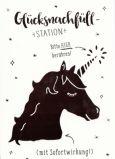 GWBI Glücksnachfüll-Station / Einhorn - einzigArtig Postkarte
