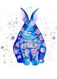 DANACARDS Blumenhase - Anna Fernandez Postkarte