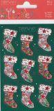 BSB Weihnachtssocken mit Goldprägung Xmas Turnowsky Sticker